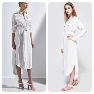 C/MEO COLLECTIVE ON POINT STRIPE SHIRT DRESS